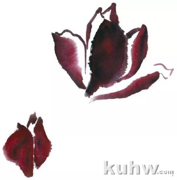 水墨紫玉兰怎么画?