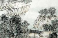 纪根墨山水画作品欣赏