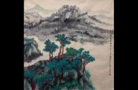 马小虎青绿山水画作品欣赏