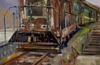 王根油画写生作品