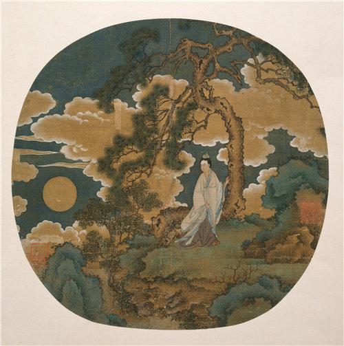 中国《张娥,月亮女神》元或明初1345–1445年作品下载