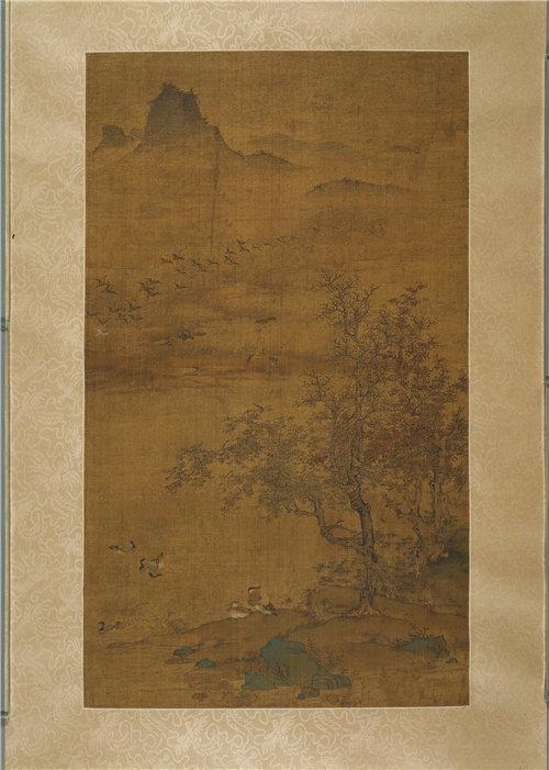 元朝(1279–1368)-雁行图 作品高清下载