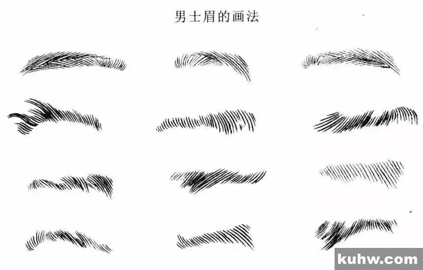 技法 | 工笔人物入门 脸部五官的白描画法