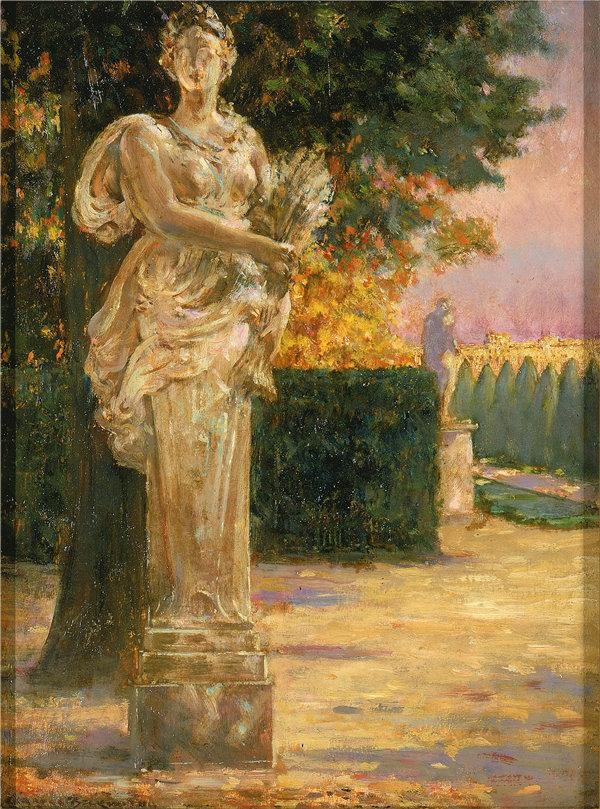 卡洛尔·贝克维斯(Carroll Beckwith),谷神仙的终极人物, 1911年油画