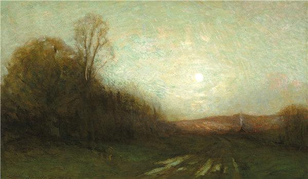 查尔斯·梅尔维尔·杜威(Charles Melville Dewey)-《一天的闭幕》油画