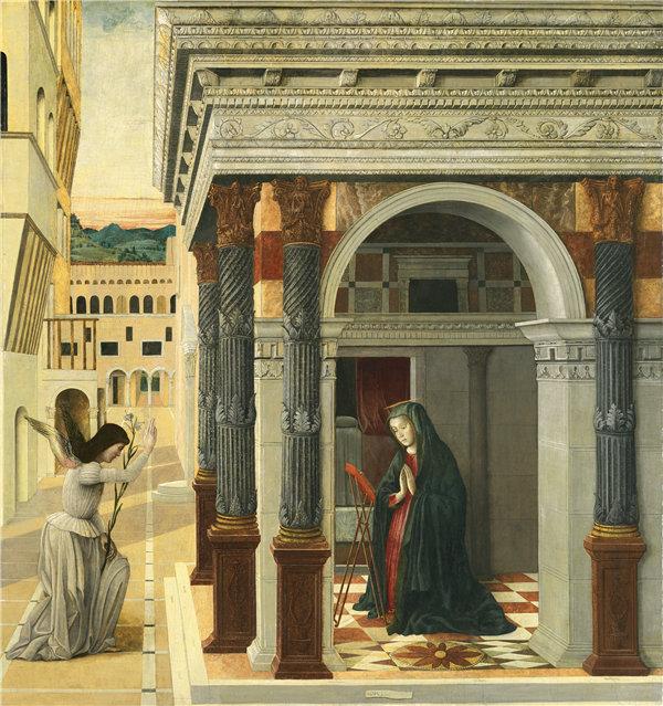 詹蒂莱·贝利尼(Gentile Bellini)-报喜 1475年高清作品下载