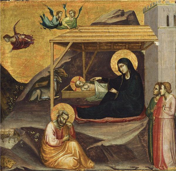 塔迪奥·加迪(Taddeo Gaddi)-耶稣降生 1325年蛋彩作品