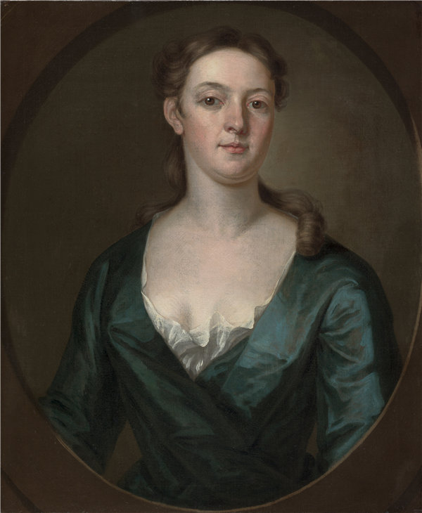 约翰·斯密伯特(John Smibert)-女人的肖像 1734油画