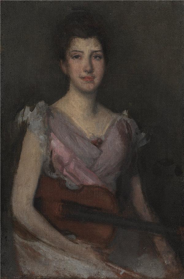 詹姆斯·麦克尼尔·惠斯勒(James McNeill Whistler)-小提琴手1894年油画