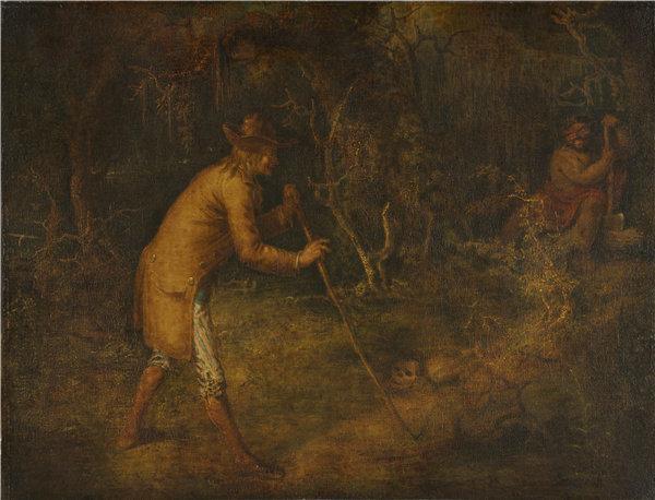 约翰·基多(John Quidor)-魔鬼和汤姆沃克 1856年高清油画下载
