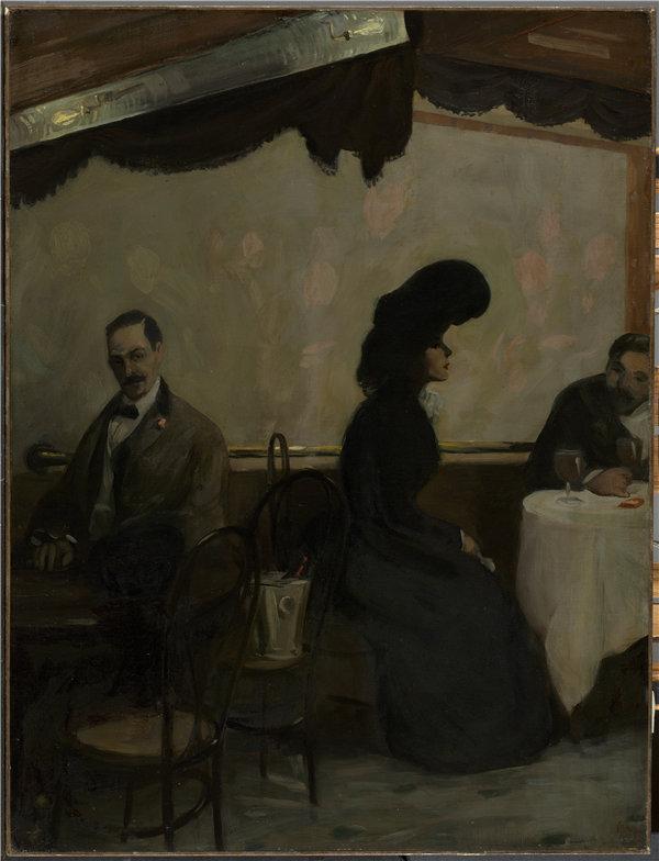 约翰·斯隆(John Sloan)-拉特斯凯勒,1901年油画高清下载