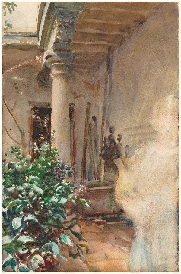 约翰·辛格·萨金特(John Singer Sargent)-天井,1908 年油画