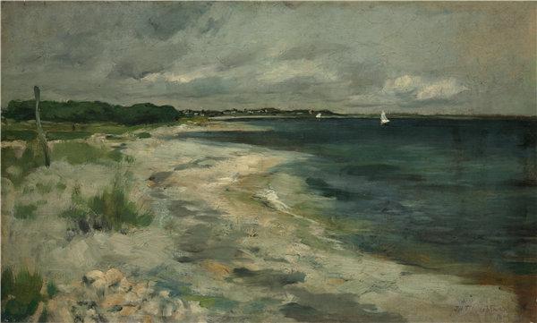 约翰·亨利·特瓦克曼(John Henry Twachtman)-暴风云油画