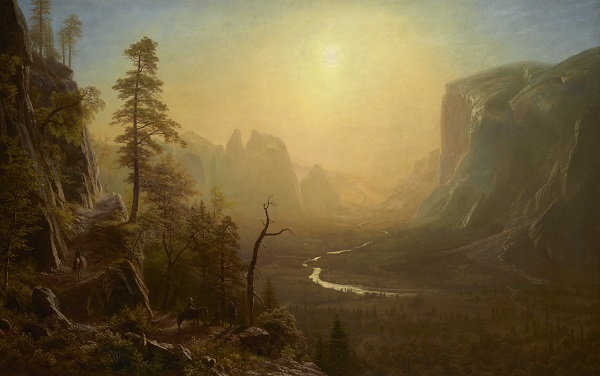 阿尔伯特·比尔施塔特(Albert Bierstadt)-优胜美地山谷油画