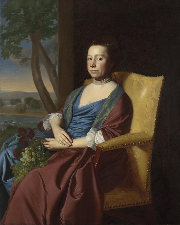 约翰·辛格尔顿·科普利(John Singleton Copley)-伊丽莎白·斯托勒·史密斯油画