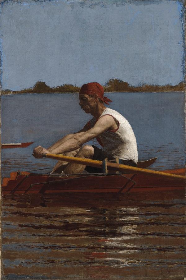 托马斯·埃金斯 (Thomas Eakins),美国-约翰·比林 (John Biglin) 单桨油画