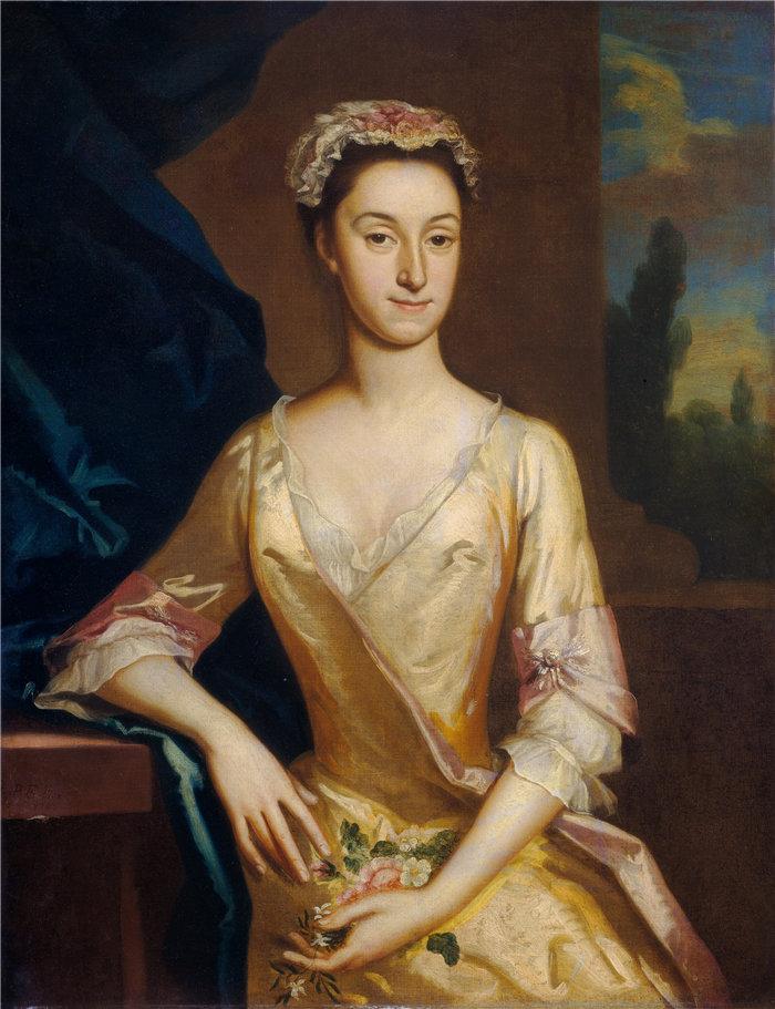 约瑟夫·海默(Joseph Highmore)一位女士的肖像,1730年 英国