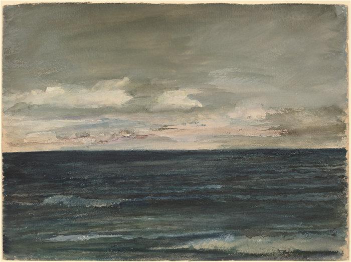 约翰·拉法格(John La Farge)–泽西海岸的课程研究油画
