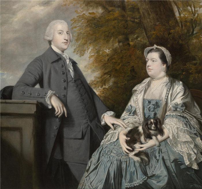 约书亚雷诺兹(Joshua Reynolds)爵士,英国人,1723–1792 年-戈弗雷温特沃斯夫妇的肖像