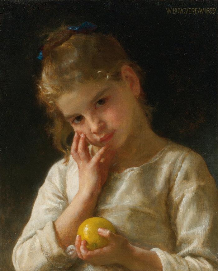 法国画家威廉·阿道夫·布格罗(William Adolphe Bouguereau)油画-香橼 (1899)