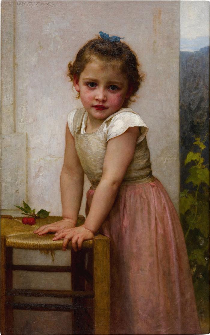 法国画家威廉·阿道夫·布格罗(William Adolphe Bouguereau)油画-伊冯娜 (1896)