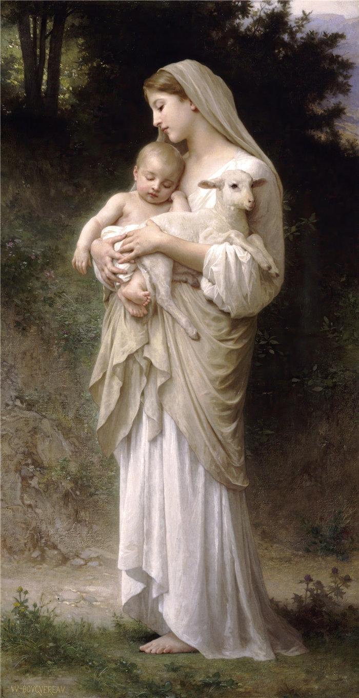 法国画家威廉·阿道夫·布格罗(William Adolphe Bouguereau)油画-无罪 (1893)
