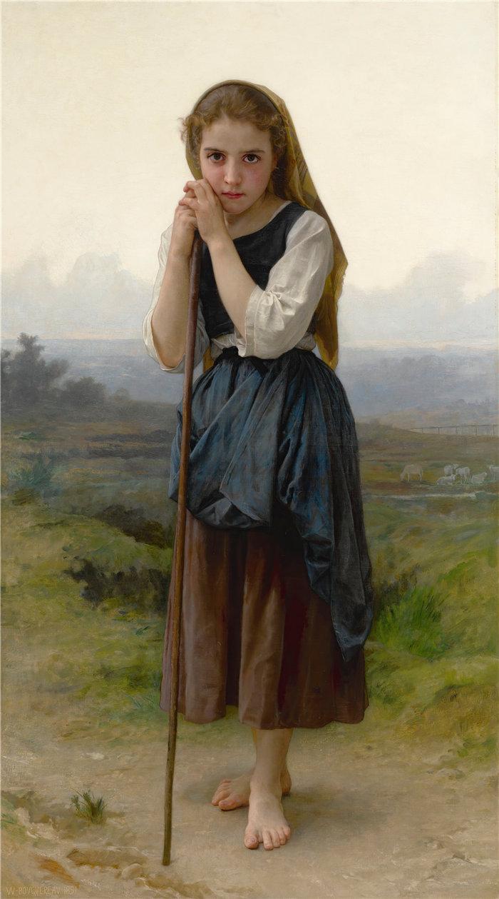 法国画家威廉·阿道夫·布格罗(William Adolphe Bouguereau)油画-小贝尔杰 (1891)