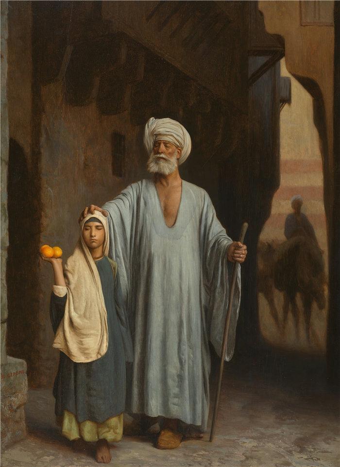 让·莱昂·杰罗姆(Jean-Léon Gérôme,法国) 油画-援助之手