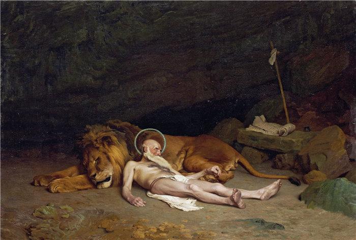 让·莱昂·杰罗姆(Jean-Léon Gérôme,法国) 油画-圣杰罗姆 (1874)