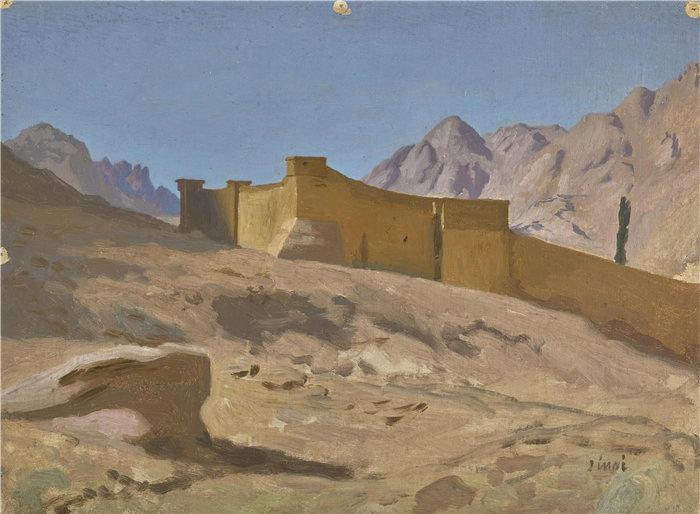 让·莱昂·杰罗姆(Jean-Léon Gérôme,法国) 油画-圣凯瑟琳修道院