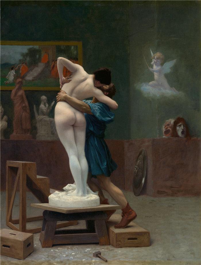 让·莱昂·杰罗姆(Jean-Léon Gérôme,法国) 油画-皮格马利翁和加拉忒亚 (Ca. 1890)