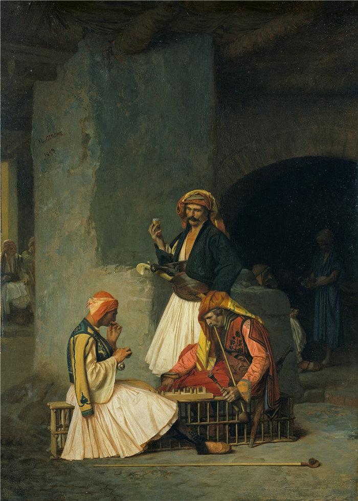 让·莱昂·杰罗姆(Jean-Léon Gérôme,法国) 油画-选秀球员 (1859)