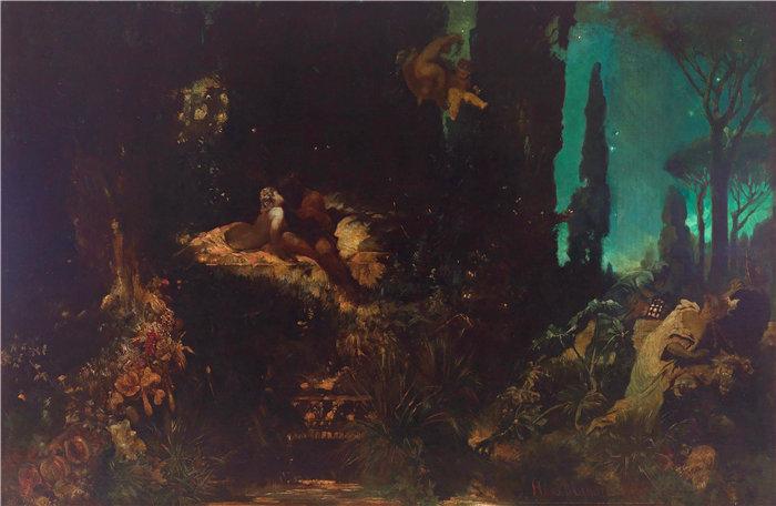 汉斯·马卡特 (Hans Makart,奥地利画家)-仲夏夜之梦 (1868)