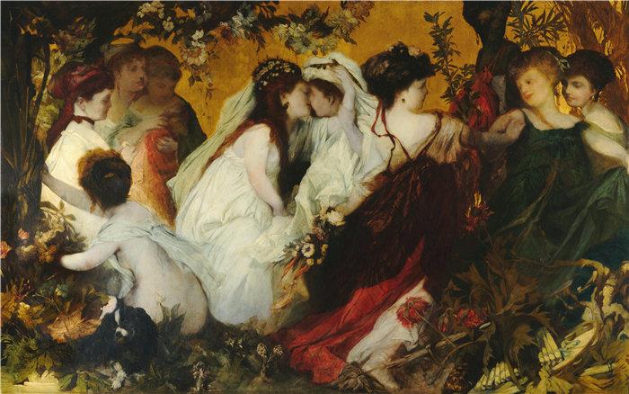 汉斯·马卡特 (Hans Makart,奥地利画家)-现代阿莫雷蒂 (1)