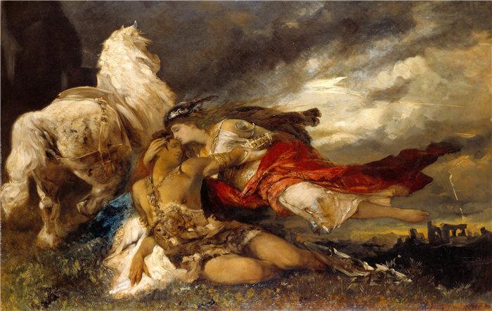 汉斯·马卡特 (Hans Makart,奥地利画家)-瓦尔基里和垂死的英雄