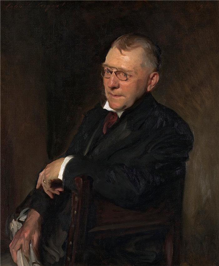 约翰·辛格·萨金特 (John Singer Sargent,美国画家)作品-詹姆斯·惠特科姆·莱利的肖像 (1903)