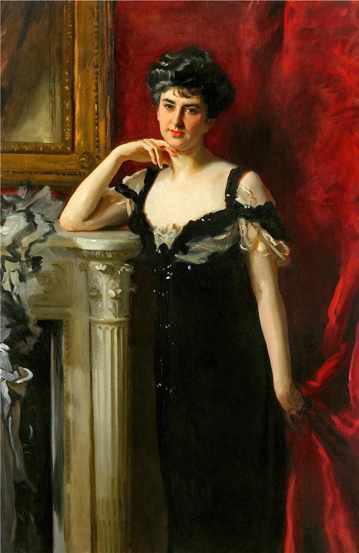 约翰·辛格·萨金特 (John Singer Sargent,美国画家)作品-约翰·C·汤姆林森夫人