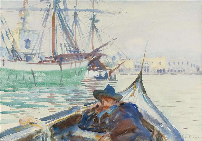 约翰·辛格·萨金特 (John Singer Sargent,美国画家)作品-朱代卡之夏