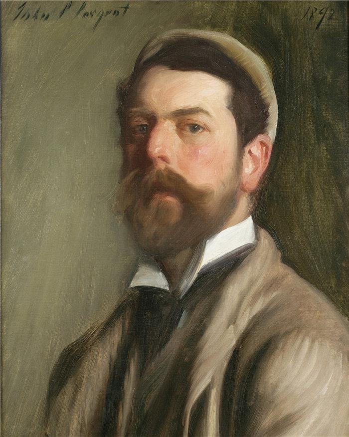 约翰·辛格·萨金特 (John Singer Sargent,美国画家)作品-自画像 (1892)