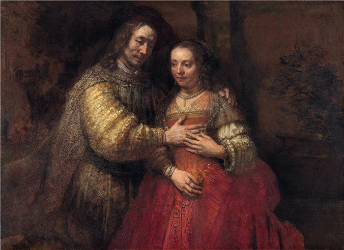 伦勃朗·范·瑞恩  (Rembrandt van Rijn,荷兰 ) 作品 - 犹太新娘( 1665 - 1669)