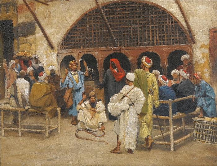 路德维希·多伊奇(Ludwig Deutsch 奥地利画家)作品 -耍蛇人