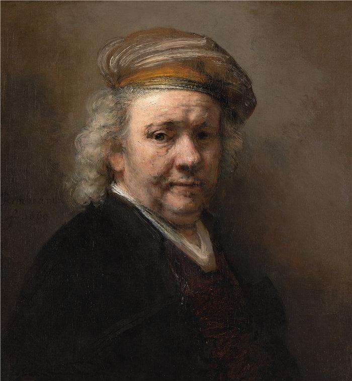 伦勃朗·范·瑞恩  (Rembrandt van Rijn,荷兰 ) 作品 - 自画像(1669)