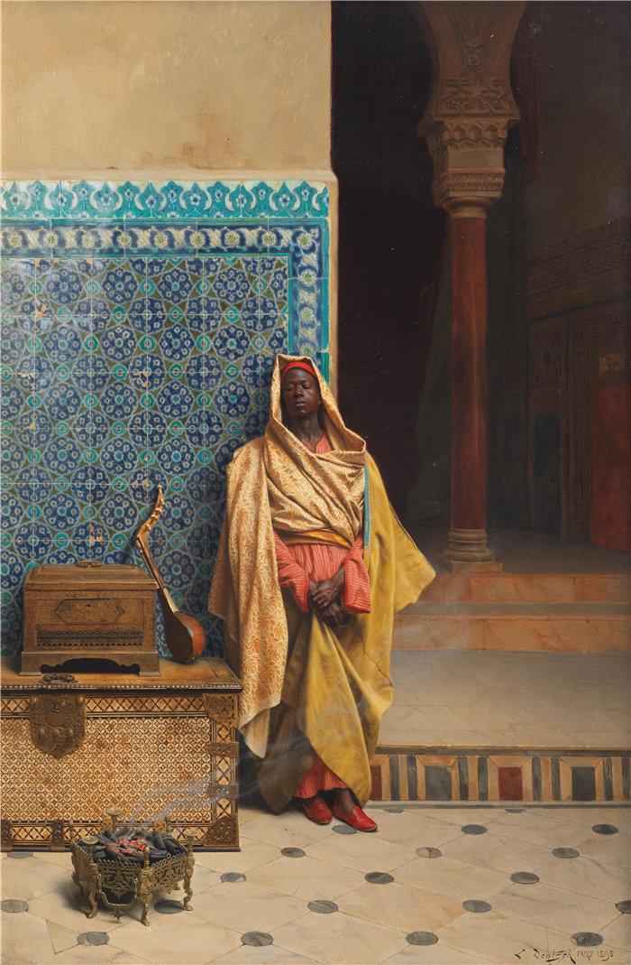 路德维希·多伊奇(Ludwig Deutsch 奥地利画家)作品 -在清真寺 (1895)