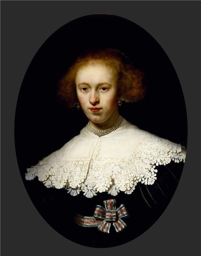 伦勃朗·范·瑞恩  (Rembrandt van Rijn,荷兰 ) 作品 - 一个年轻女子的肖像
