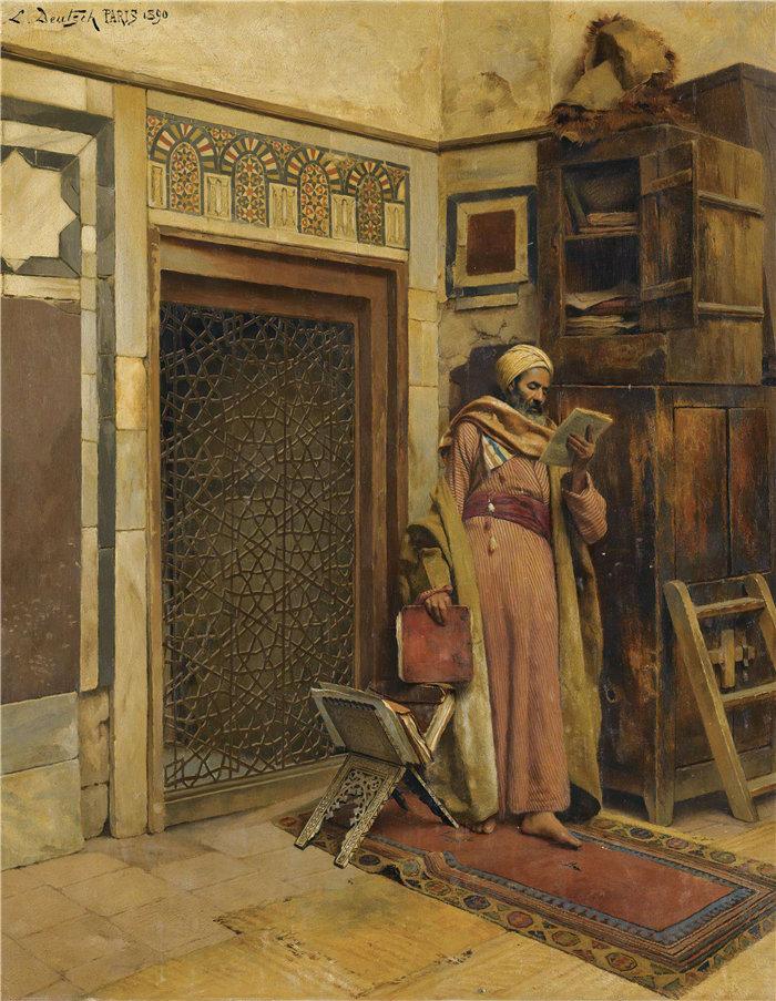 路德维希·多伊奇(Ludwig Deutsch 奥地利画家)作品 -学者 (1890)