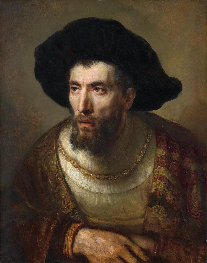 伦勃朗·范·瑞恩  (Rembrandt van Rijn,荷兰 ) 作品 - 哲学家(约 1653 年)