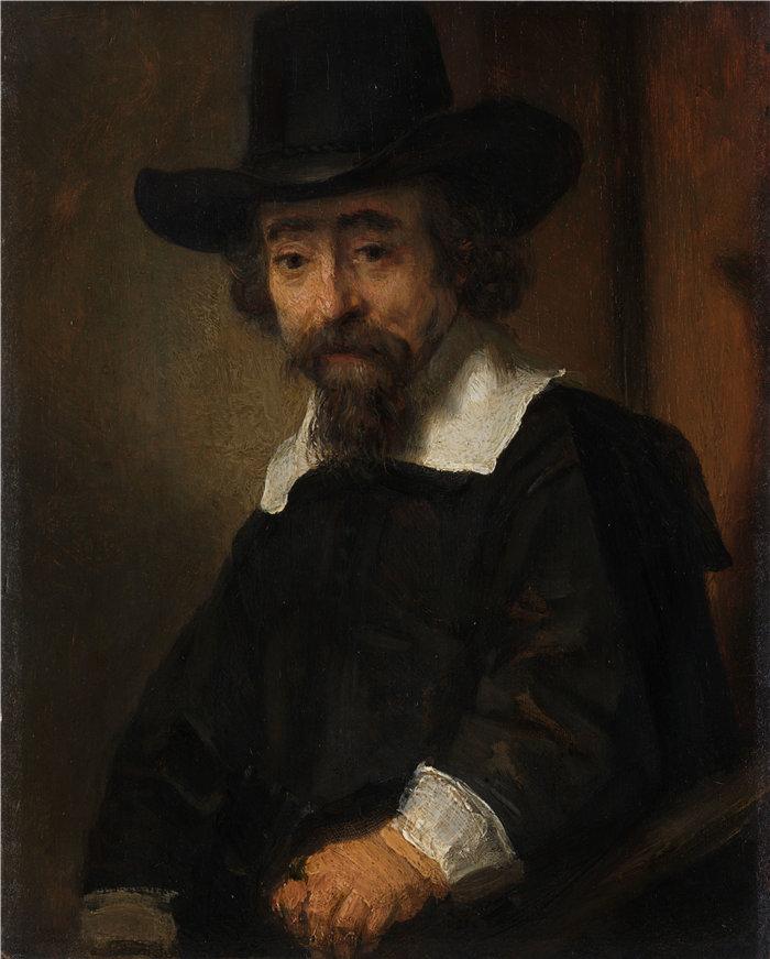 伦勃朗·范·瑞恩  (Rembrandt van Rijn,荷兰 ) 作品 - 以法莲·布埃诺 (Ephraim Bueno) 的肖像 (1645 - 1647)