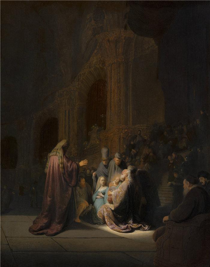 伦勃朗·范·瑞恩  (Rembrandt van Rijn,荷兰 ) 作品 - 西缅的赞美之歌 (1631)