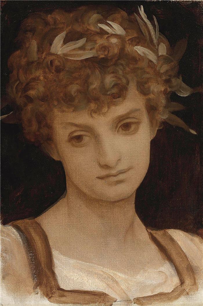 弗雷德里克·莱顿(Frederick Leighton)作品 - 一个女孩的头