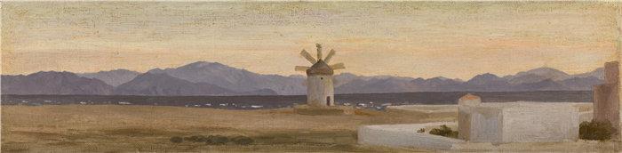 弗雷德里克·莱顿(Frederick Leighton)作品 - 小亚细亚山脉,来自罗德岛